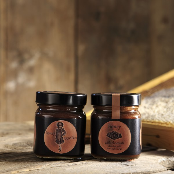 Honey with dark chocolate